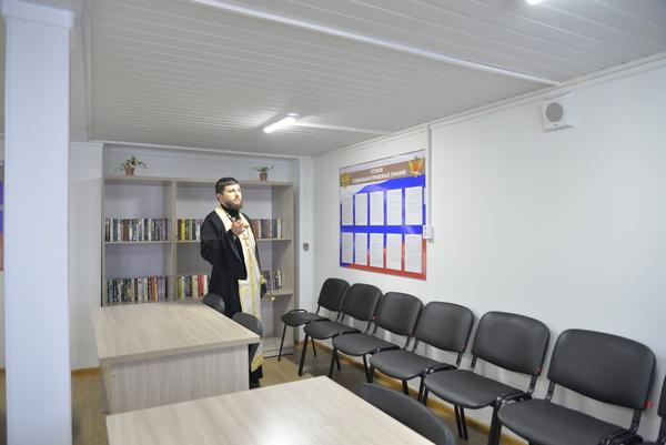 Священнослужители освятили новое здание участка, функционирующего как исправительный центр при КП-2 УФСИН России по г. Москве